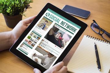 desktop tablet social network