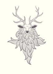 Deer. graphic illustration