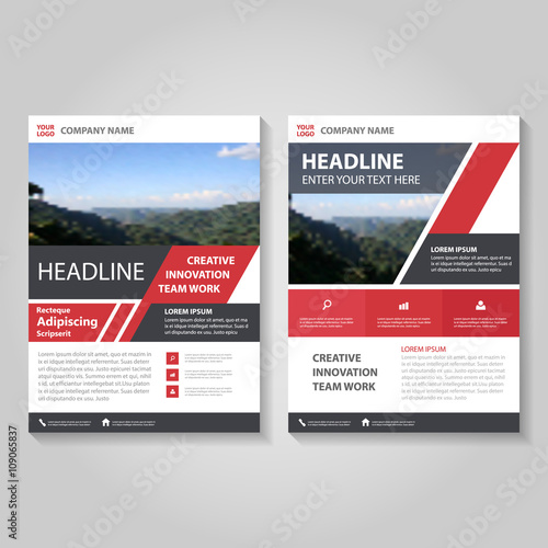 Red Vector Business Proposal Leaflet Brochure Flyer Template