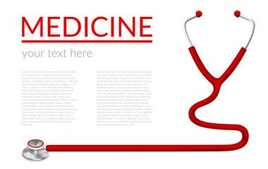 Illustration of stethoscope isolated on white background