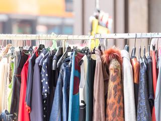 Clothes street market