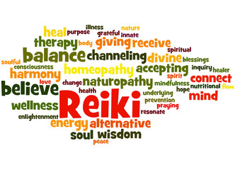 Reiki, word cloud concept 2