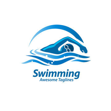 Swimming logo vector