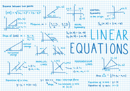 Sketch Notes LINEAR EQUATIONS [MATH]