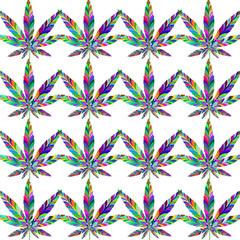 Marijuana seamless pattern 7