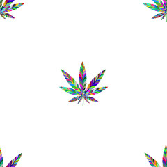 Marijuana seamless pattern 8