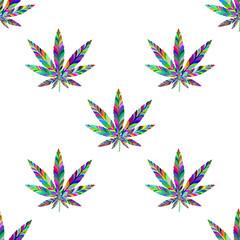 Marijuana seamless pattern 9