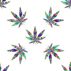 Marijuana seamless pattern 17