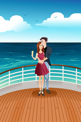 Couple Standing on Deck