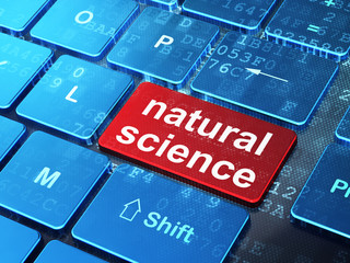 Science concept: Natural Science on computer keyboard background