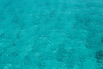 Turquoise see water surface background.