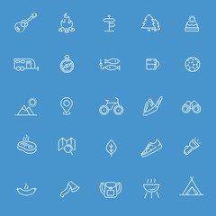 Camping, Nature and Outdoor Activities icons