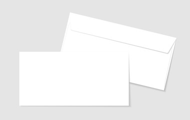 Blank paper envelopes for your design. Vector envelopes template.