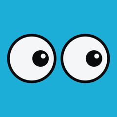 Background with cartoon eyes. Eps 10