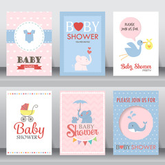 baby shower invitation card. vector