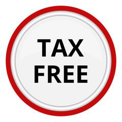tax free red chrome web circle glossy icon