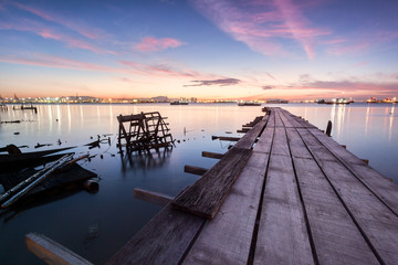 Amazing Sunrise and Sunset in Clan Jetty, George Town, Penang Malaysia