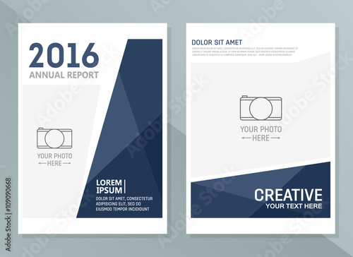 """Vector Annual Report Design Templates. Business Brochure, Flyer And Cover Design Layout"