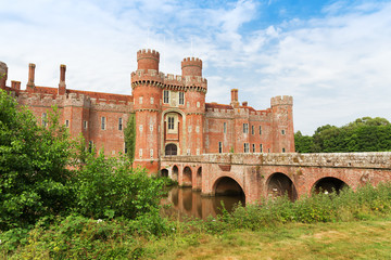 Brick Herstmonceux castle in England East Sussex 15th century UK