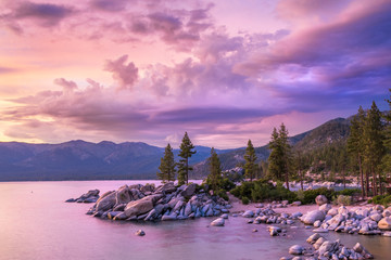 Wall Mural - Lake Tahoe sunset