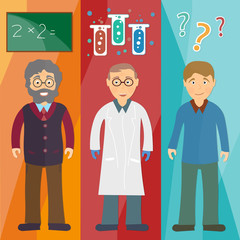 Science and education: professor,scientist, student