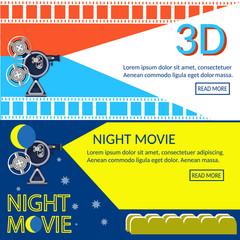Cinema banners movie night movie premiere