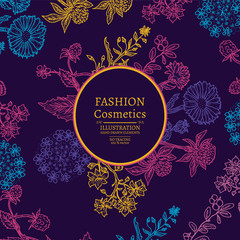 Fashion cosmetics. Organic cosmetic.