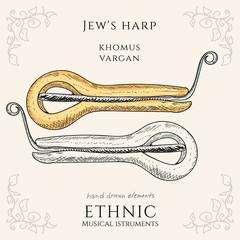 Jew's harp Khomus Vargan ethnic musical instrument
