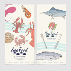 Sea food banner menu