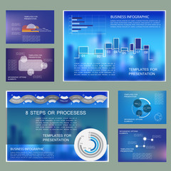Brochure design, cover layout and infographics