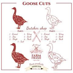 Goose cuts