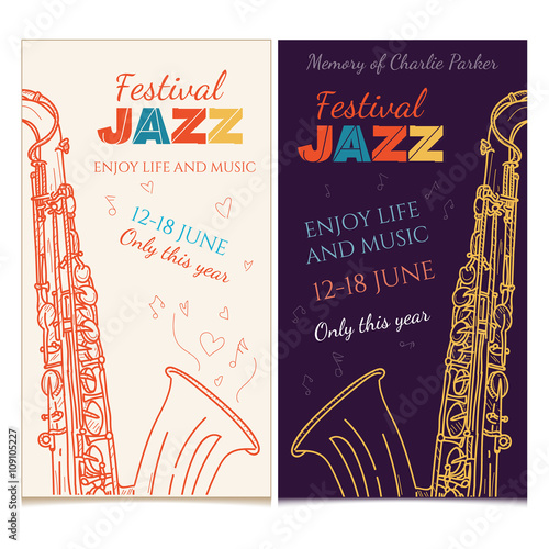 Jazz music banner saxophone live music jazz festival invitation jazz music banner saxophone live music jazz festival invitation stopboris Image collections