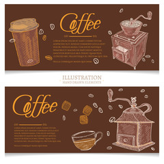 Coffee vintage banners