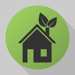 green eco house icon