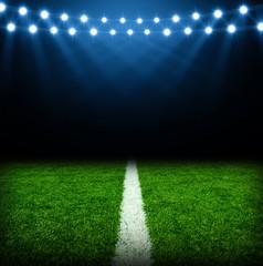soccer stadium with lights