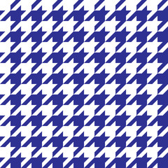 Houndstooth Pattern Blue in Vector