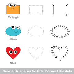 Simple geometric shapes for children.