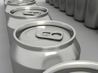 Blank Aluminum drink can. 3D illustration