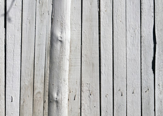 White wooden fence texture.