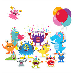 Cute monster birthday party
