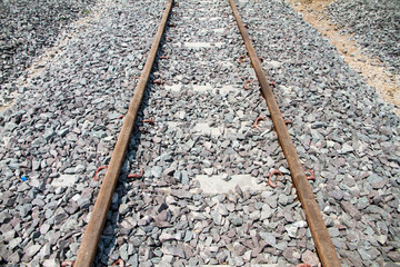 Railroad tracks are in use Daytime