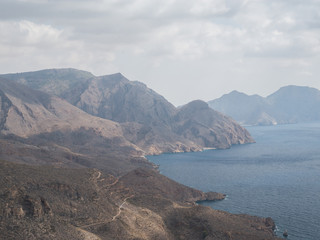 view of Mediterranean coast near Cartagena, Spain