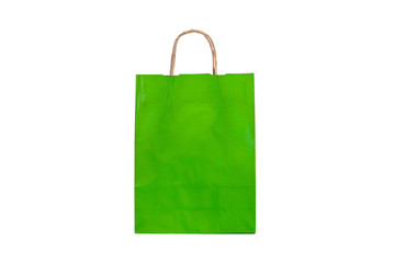 Bolsa de papel verde