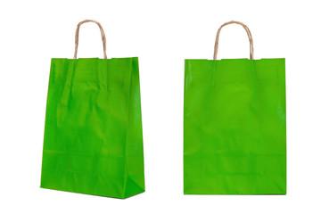 Bolsas de papel verde