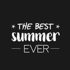 Summer Time logo Template. Vector Typographic Design Label.