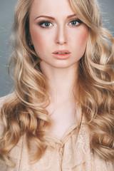 Fashion-portrait of the beautiful elegant girl.