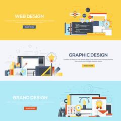 Flat designed banners- Design