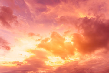 bright sunset sky background