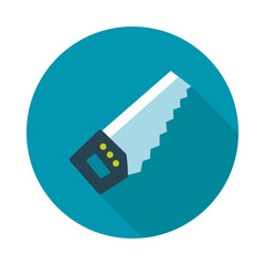 Hand saw flat vector icon
