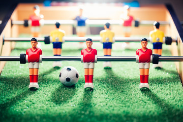 table football game, abstract light